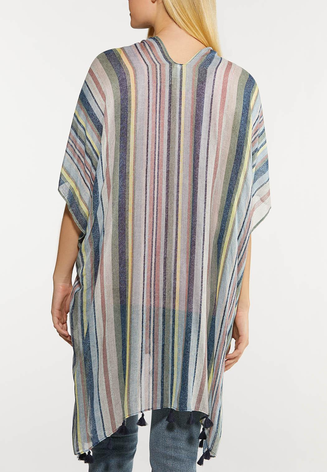 Striped Tasseled Kimono (Item #44129895)