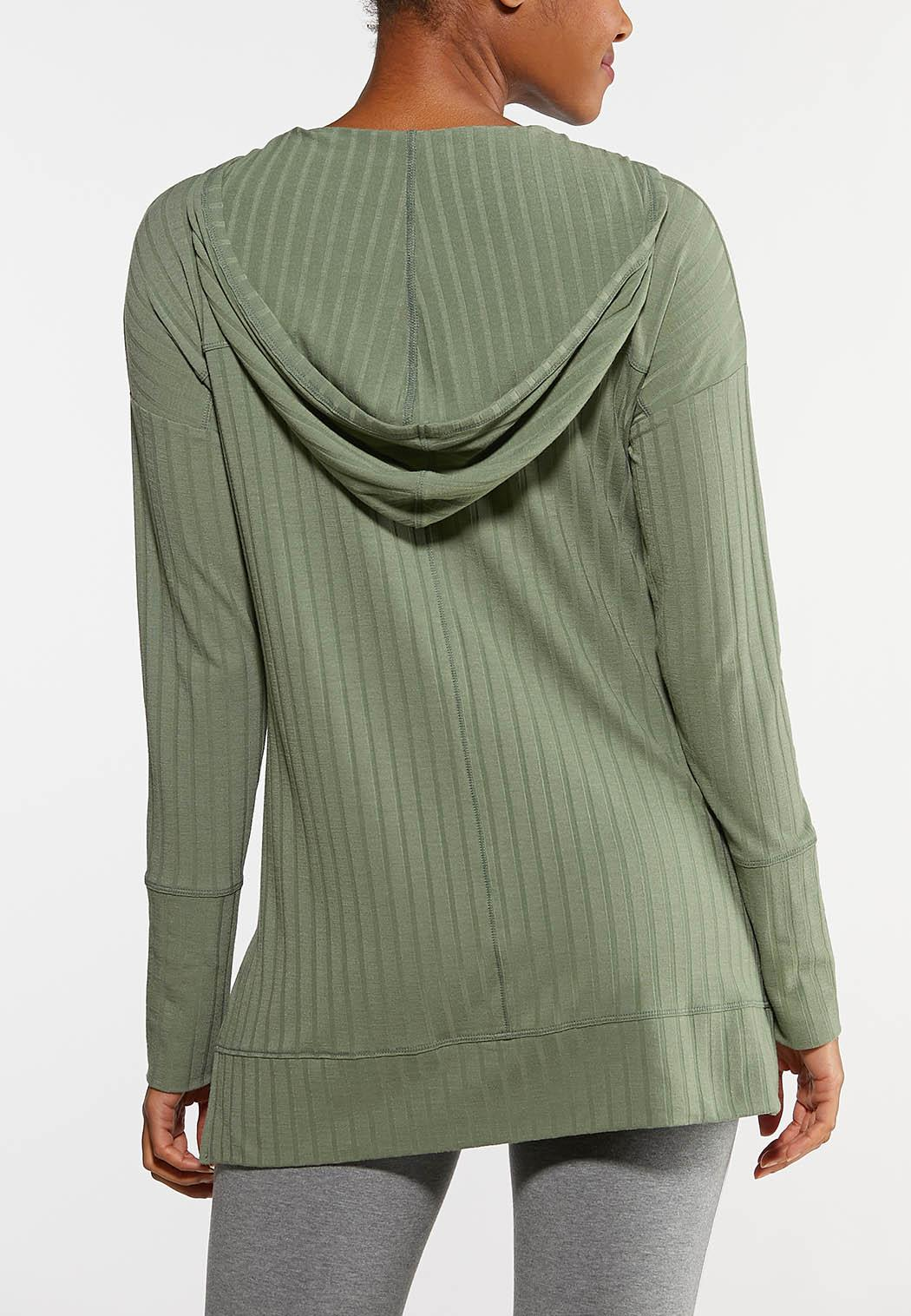 Plus Size Hooded Hacci Top (Item #44130310)
