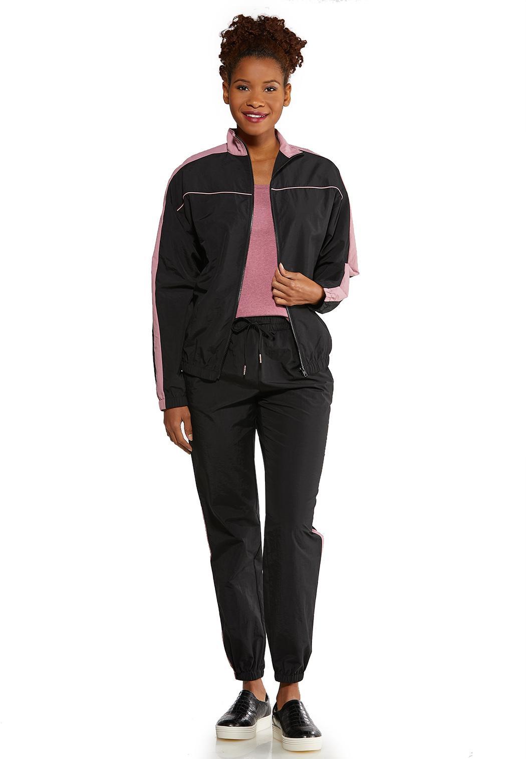 Plus Size Sporty Stripe Jacket (Item #44130639)