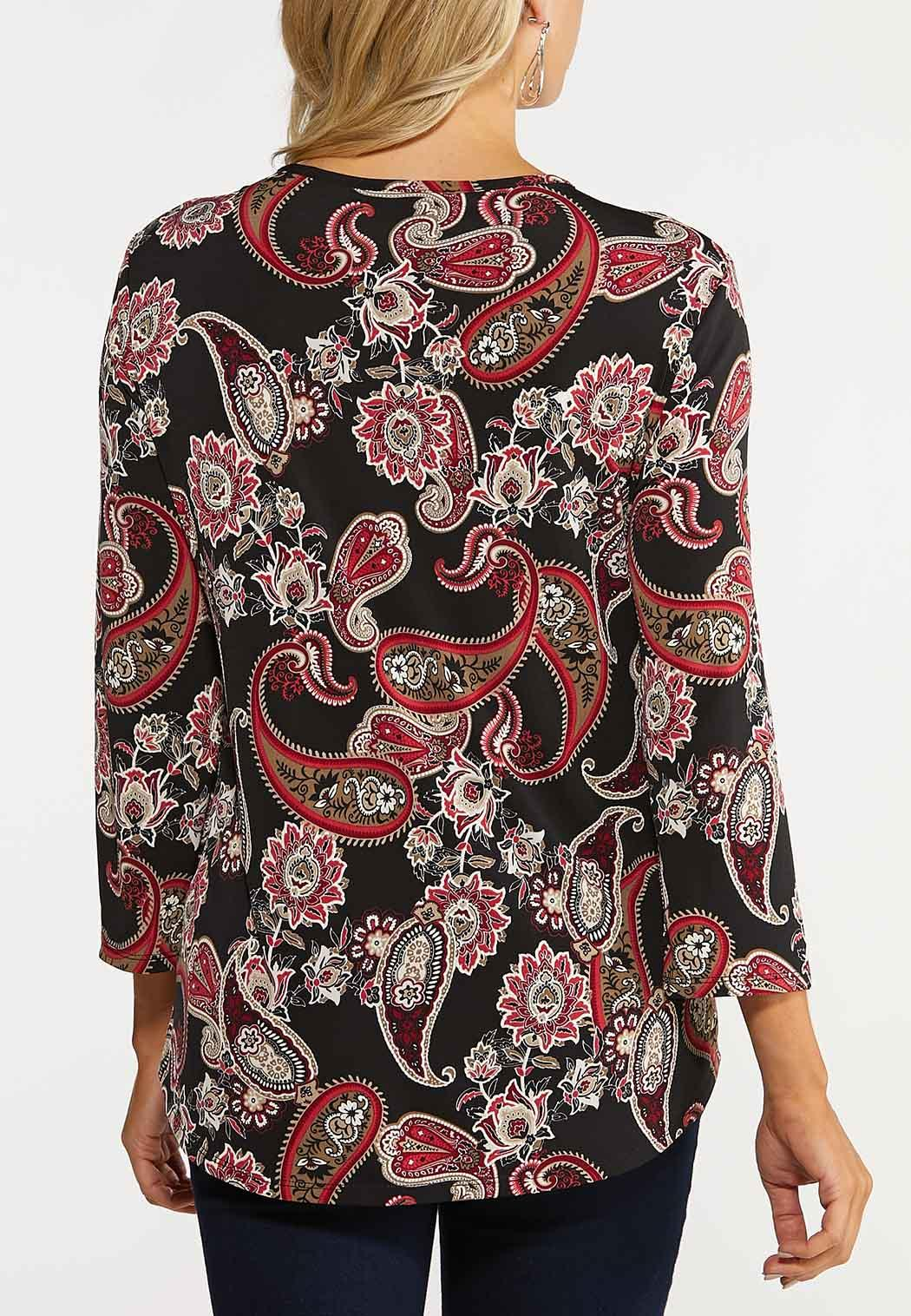Plus Size Paisley Ring Top (Item #44131859)
