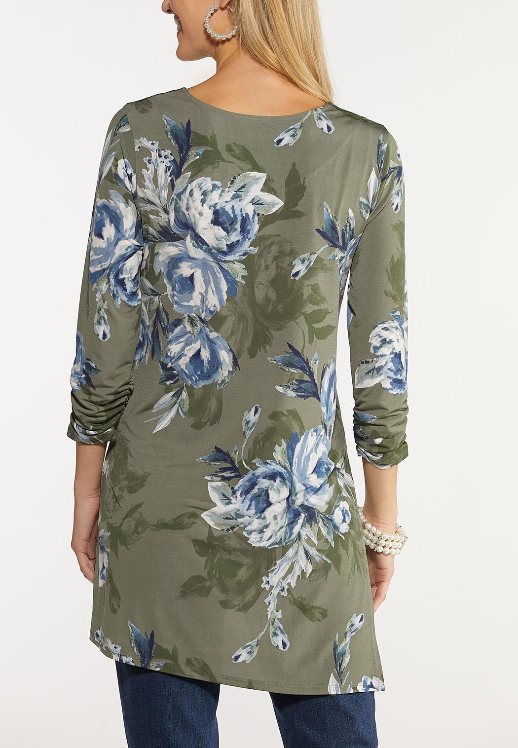 Floral Asymmetrical Tunic (Item #44132620)
