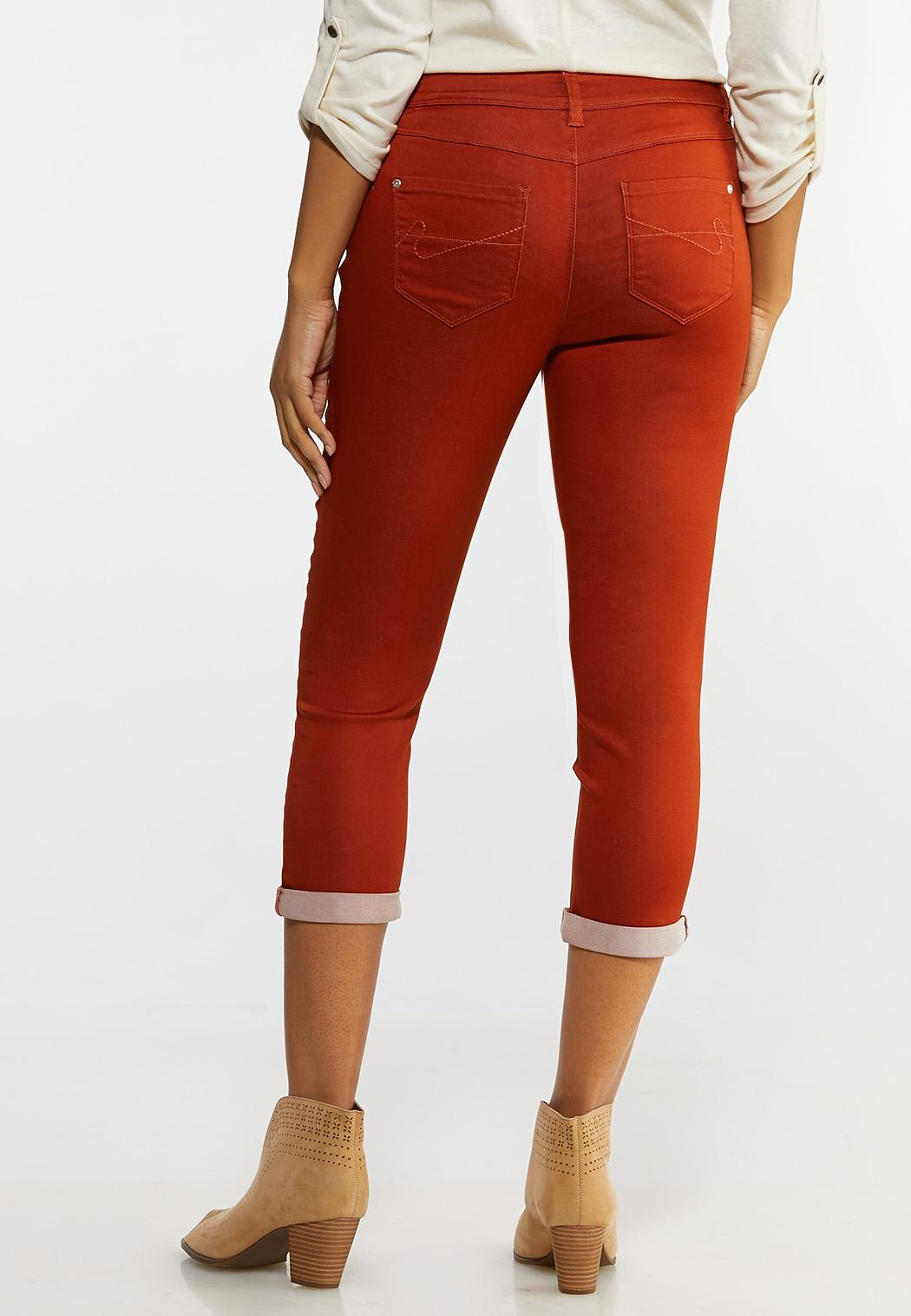 Color Cropped Skinny Jeans (Item #44133088)