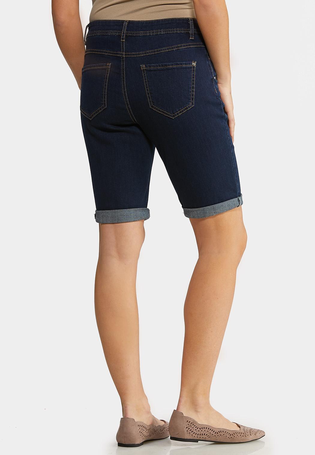Dark Wash Denim Shorts (Item #44133139)