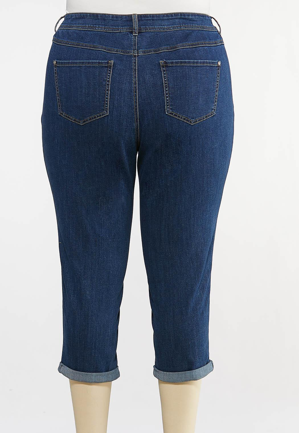 Plus Size Cropped Skinny Jeans (Item #44133268)