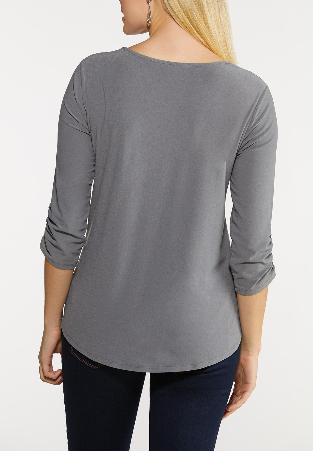 Plus Size Crepe Utility Shirt (Item #44134088)