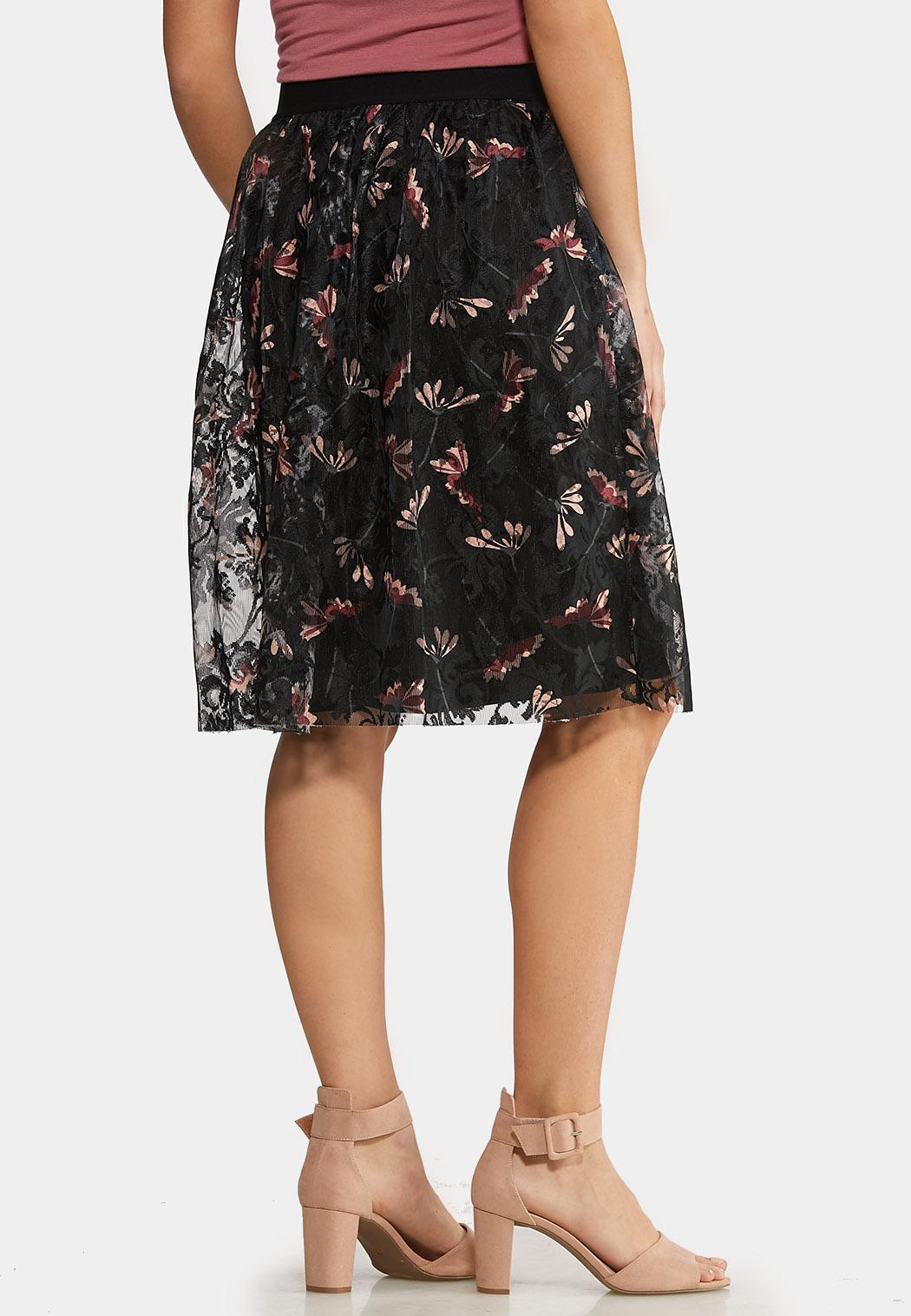 Plus Size Floral Lace Skirt (Item #44135337)
