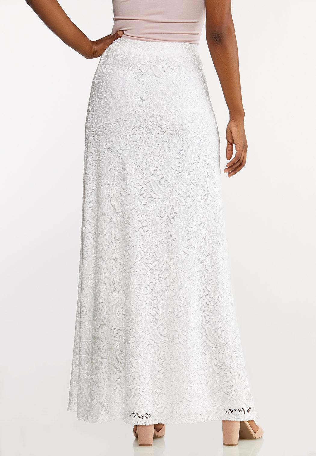Plus Size Lace Maxi Skirt (Item #44135514)