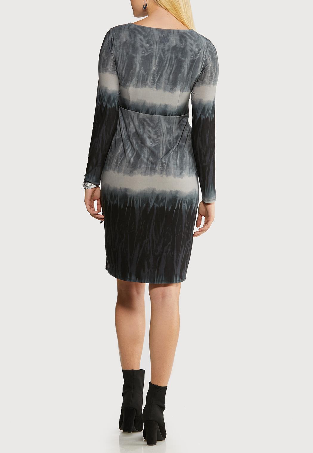 Plus Size Ombre Faux Wrap Dress (Item #44137054)