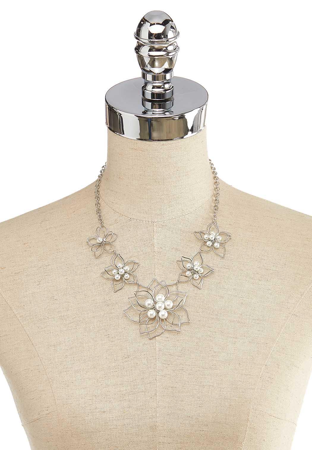 3D Pearl Flower Necklace (Item #44137095)