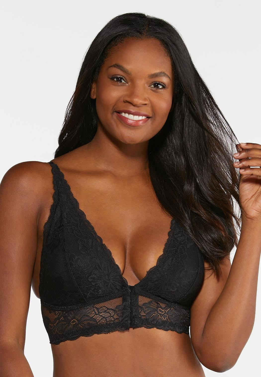 Plus Size Allover Lace Wire-Free Bra (Item #44137107)