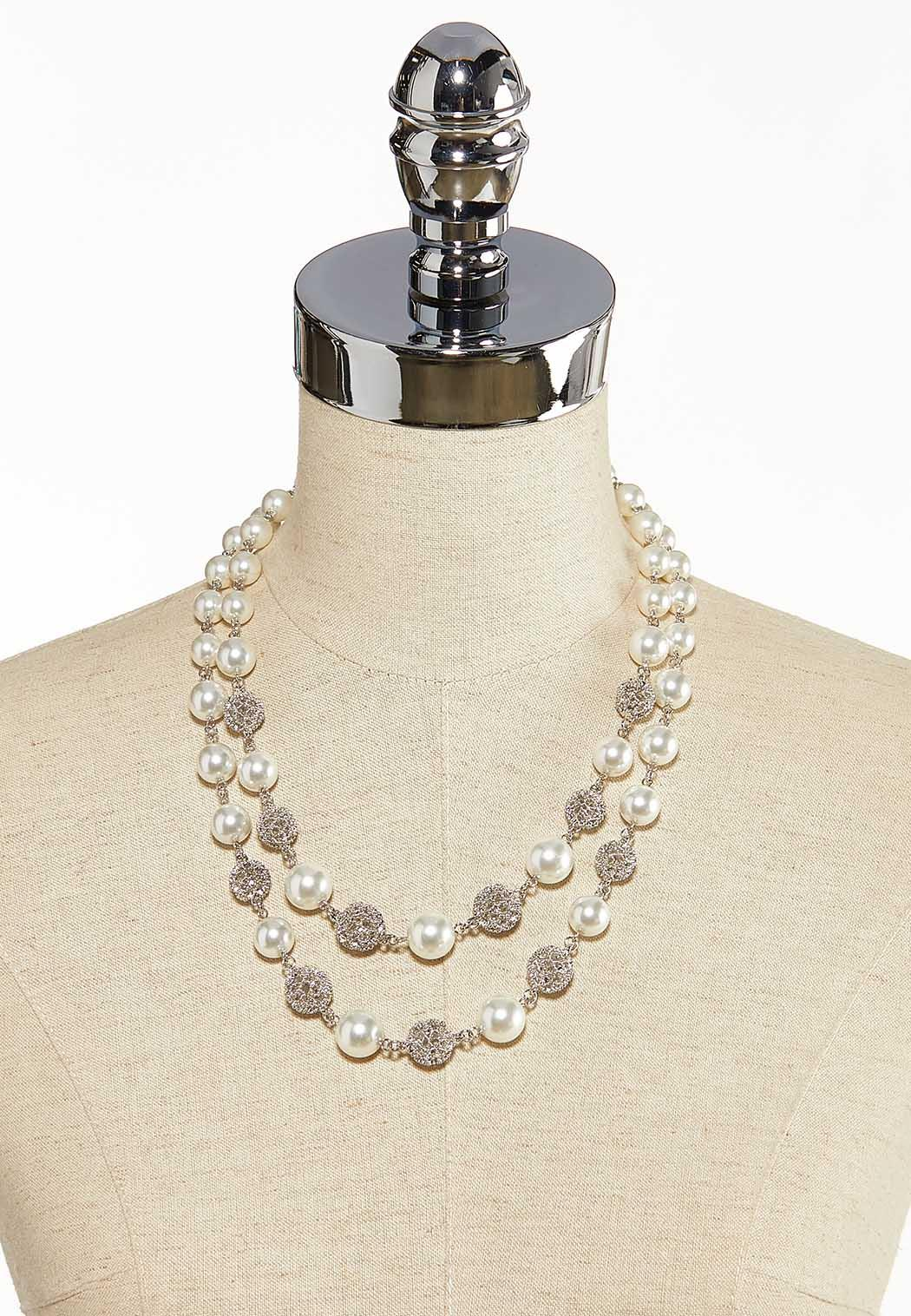 Double Row Pearl Necklace (Item #44137132)