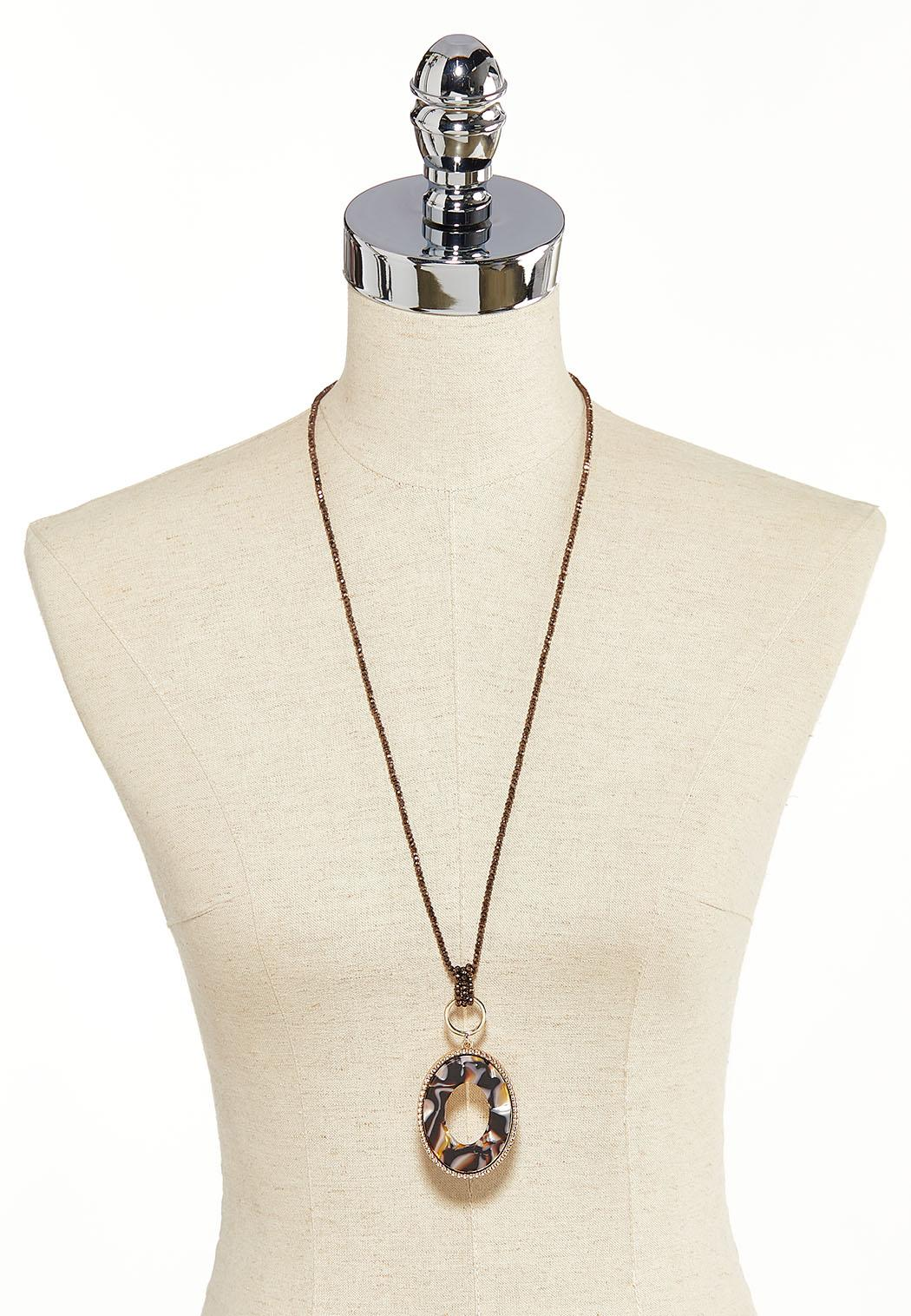Lucite Oval Necklace (Item #44137254)