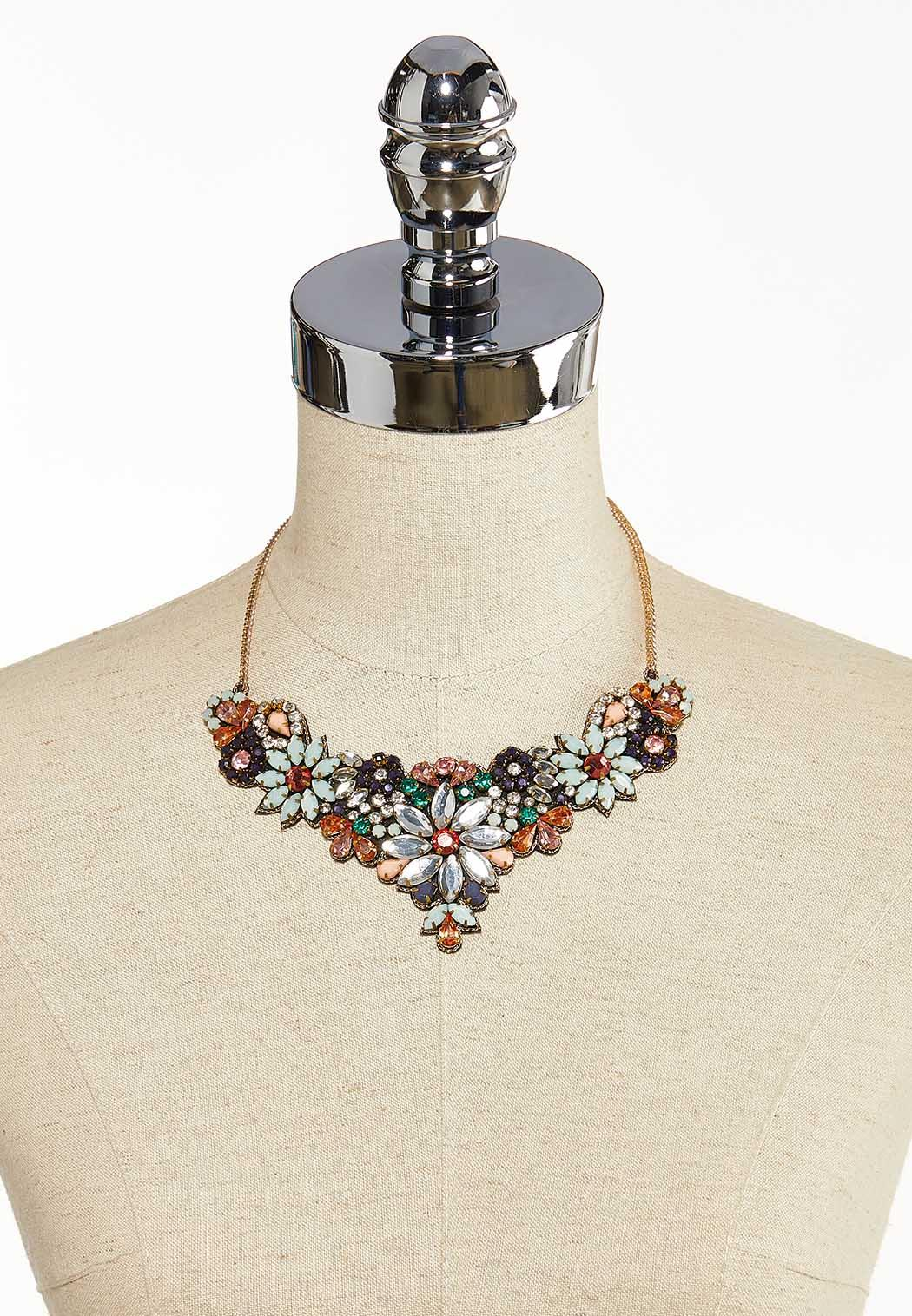 Flower Garden Bib Necklace (Item #44137292)