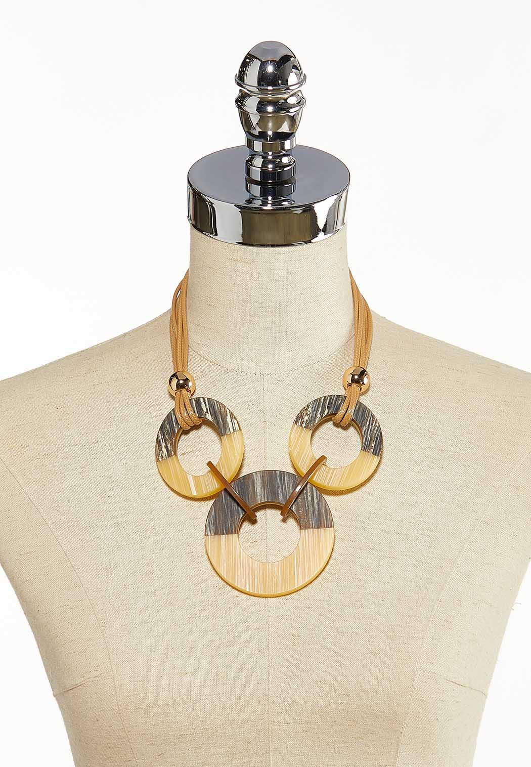 Striped Circle Cord Necklace (Item #44137376)