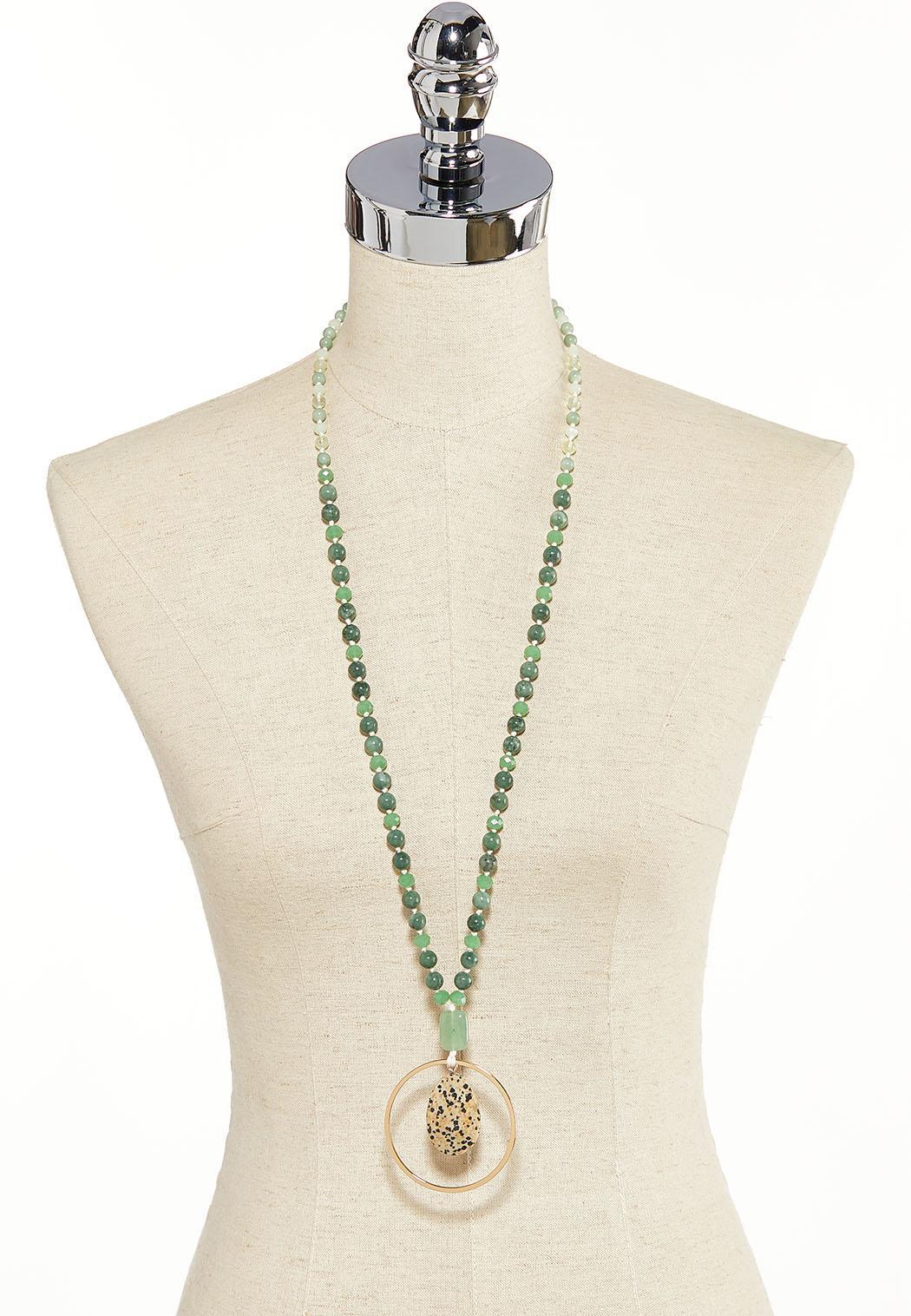 Semi-Precious Ring Pendant Necklace (Item #44137455)