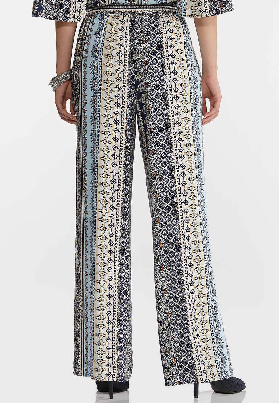 Boho Blue Wide Leg Pants (Item #44138412)