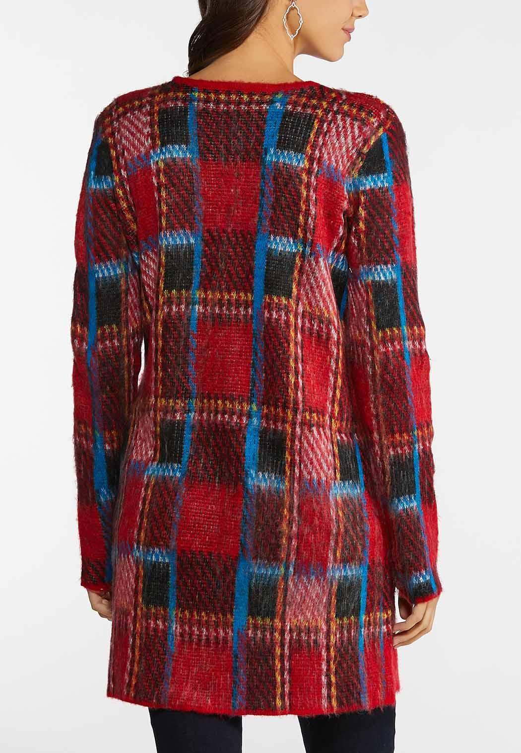 Brushed Plaid Cardigan (Item #44138932)