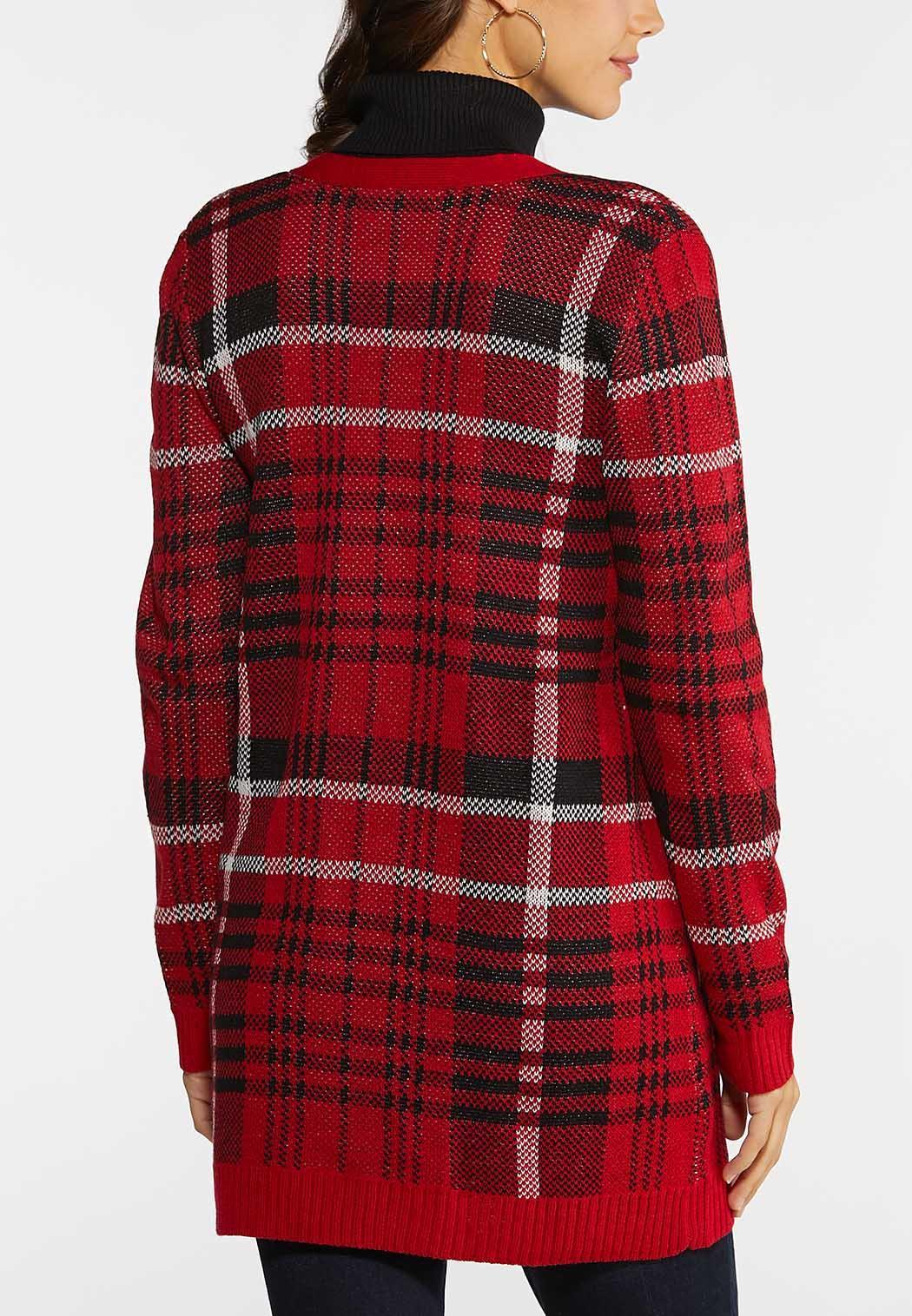 Plaid Pocket Cardigan (Item #44138988)