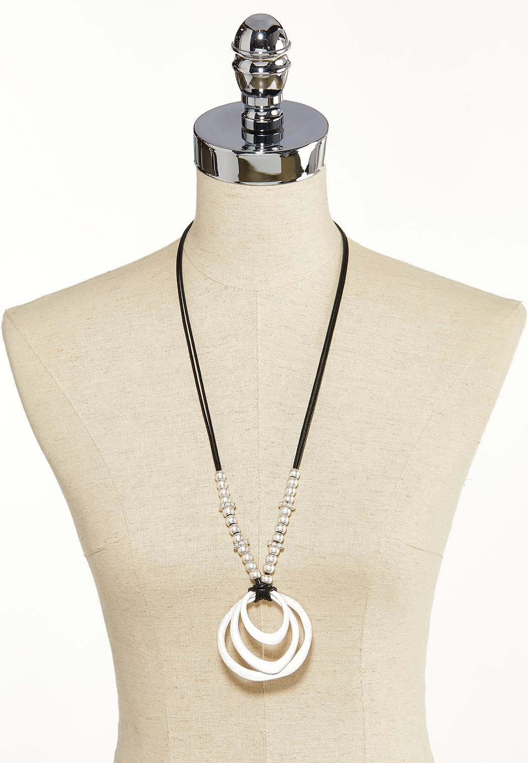 Circle Cord Pendant Necklace (Item #44139815)