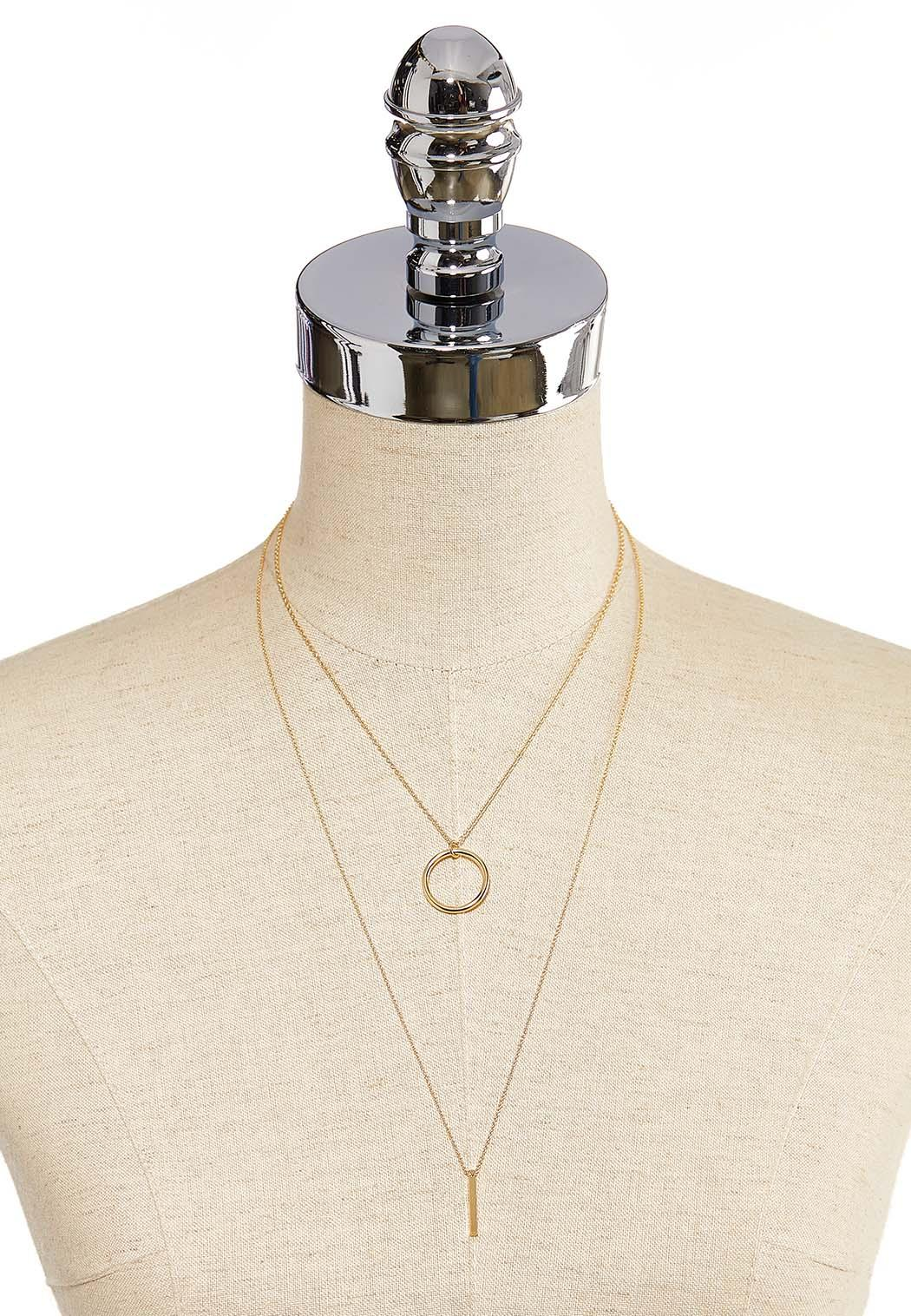 Delicate Ring Bar Layered Necklace (Item #44139873)