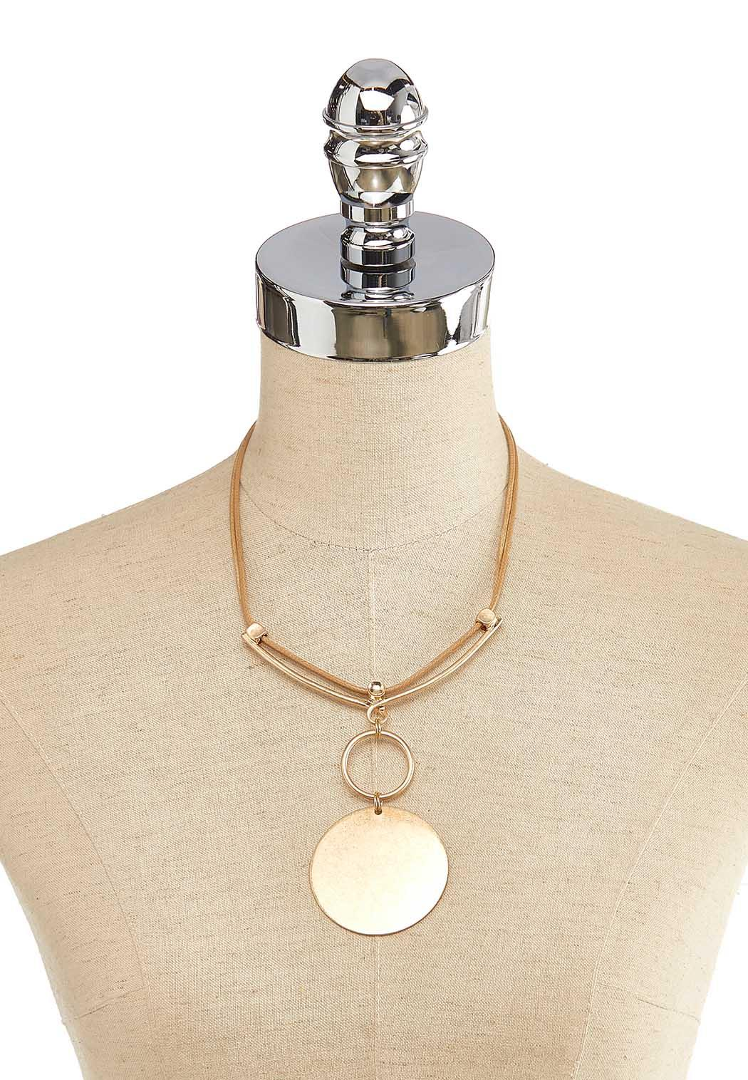 Brushed Circle Cord Necklace (Item #44139888)