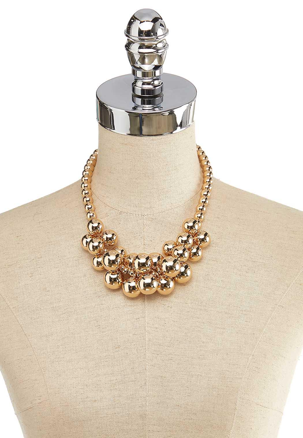 Cluster Gold Bead Necklace (Item #44139900)