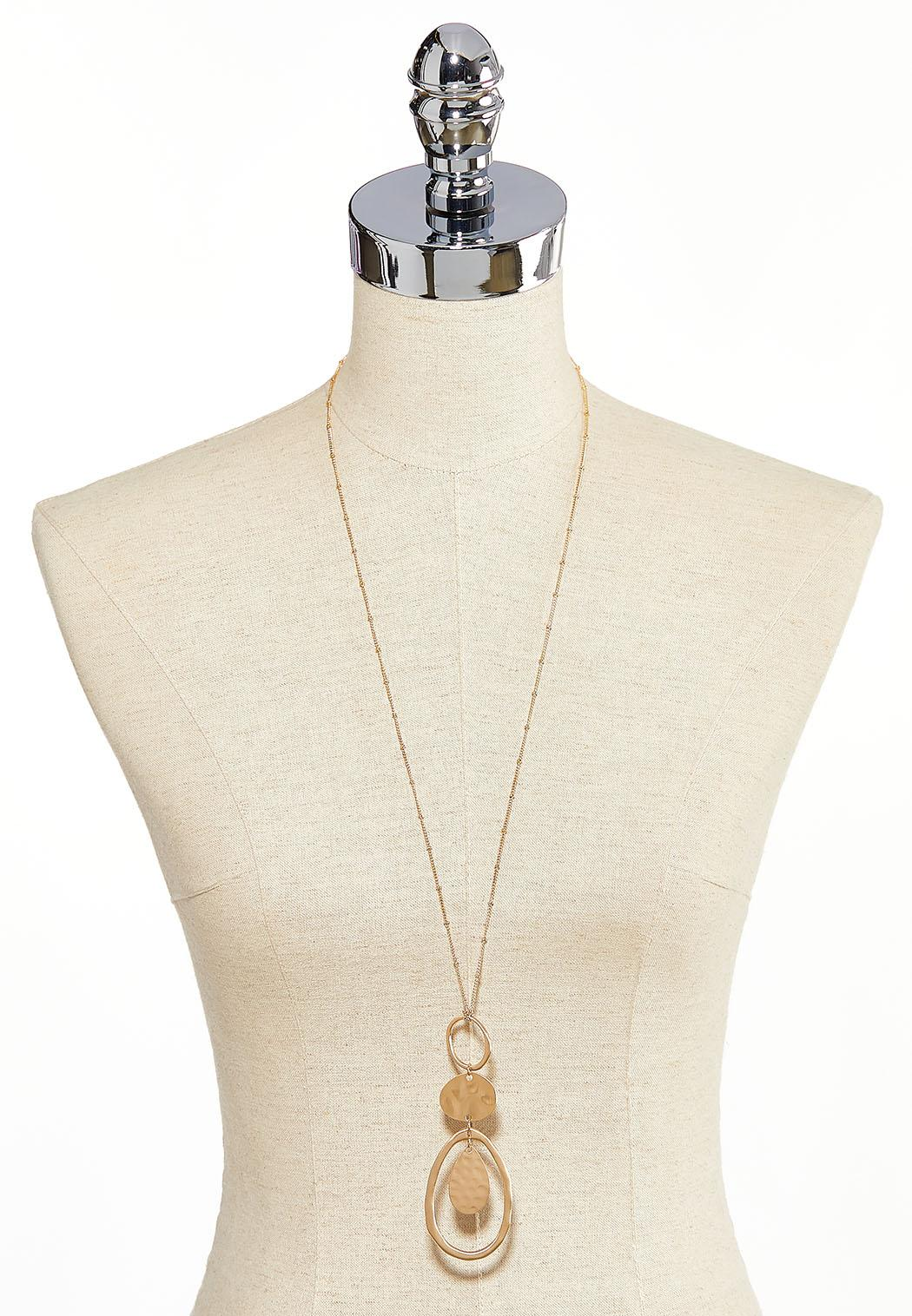 Gold Disc Ring Pendant Necklace (Item #44139962)
