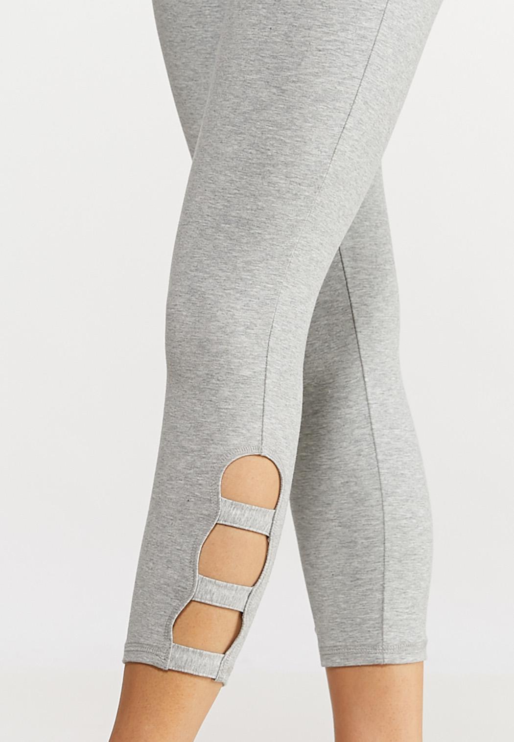 Lattice Hem Crop Leggings (Item #44140207)