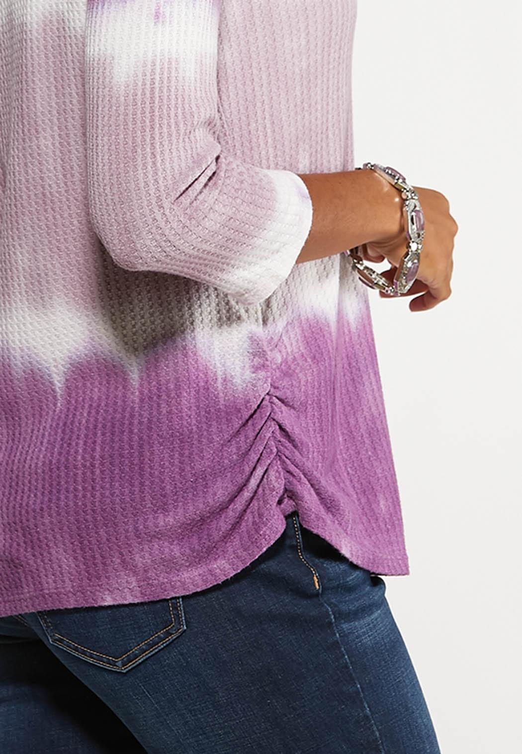 Plus Size Lavender Tie Dye Tee (Item #44140286)