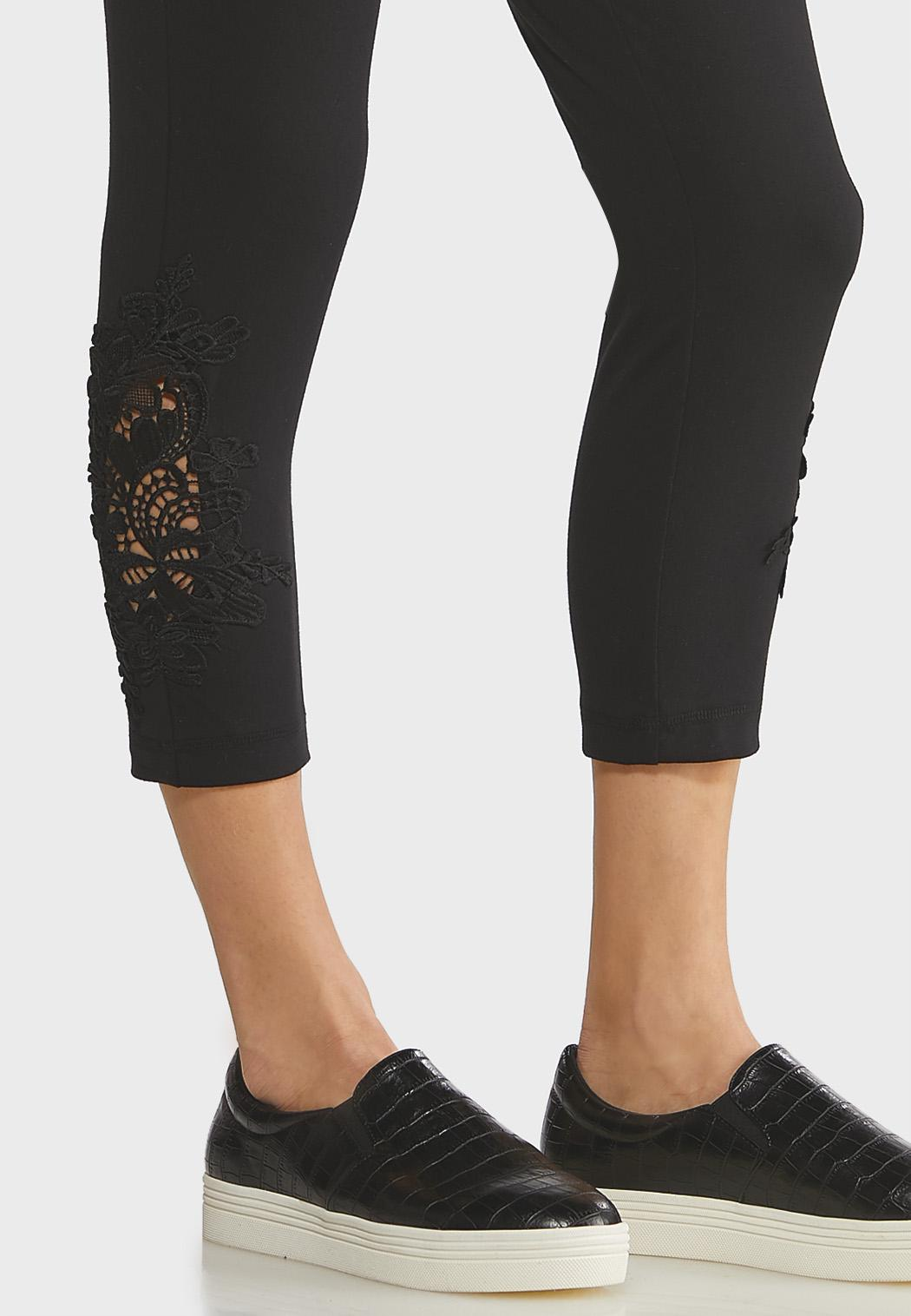 Crochet Hem Crop Leggings (Item #44140291)