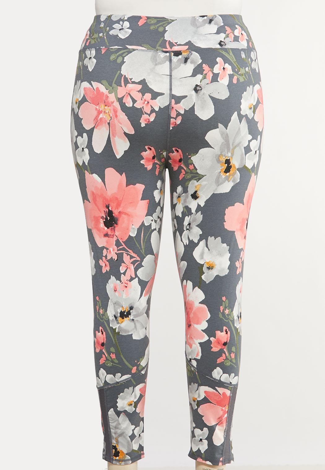 Plus Size Bold Floral Leggings (Item #44140416)