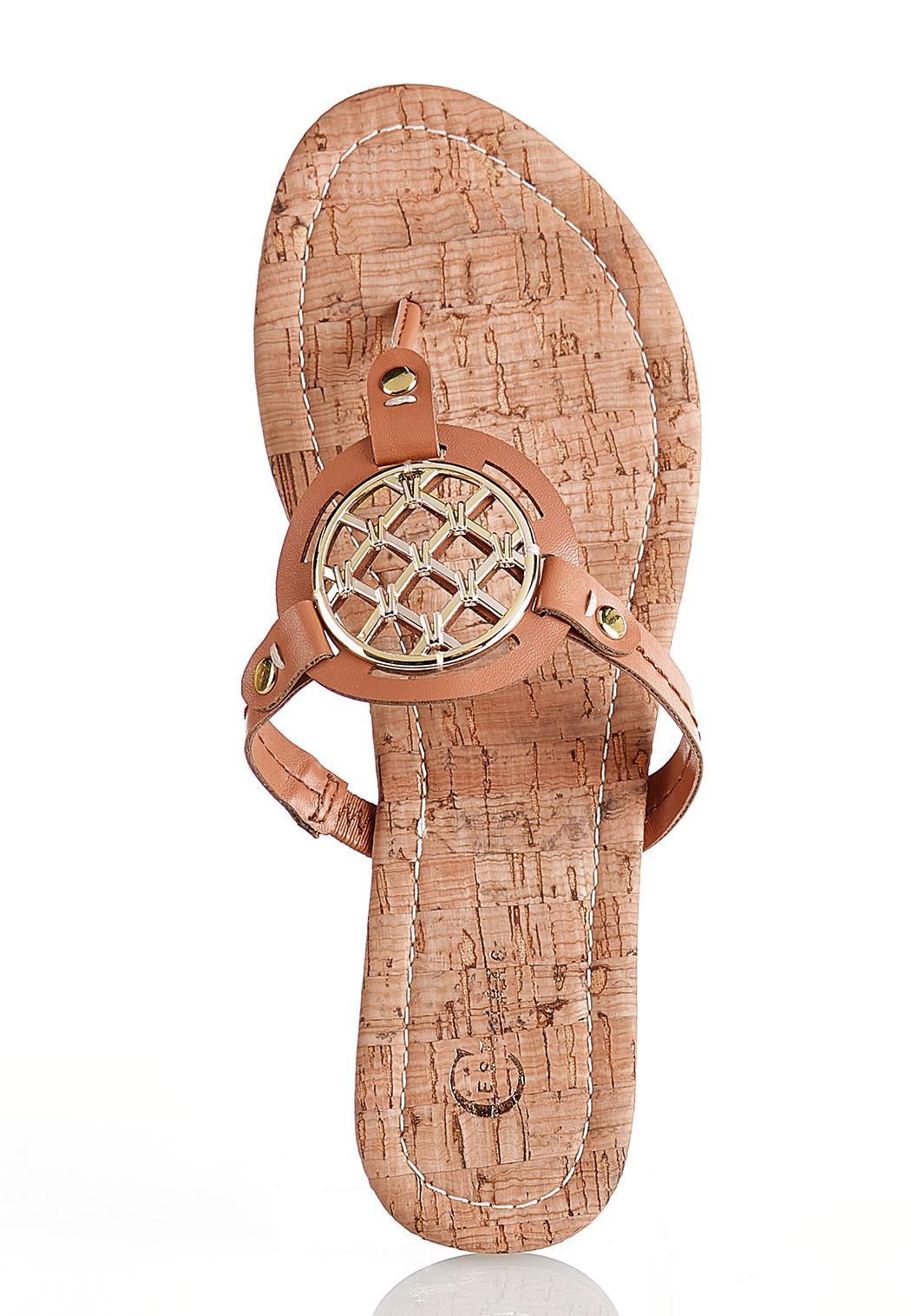 Medallion Cork Sandals (Item #44140772)