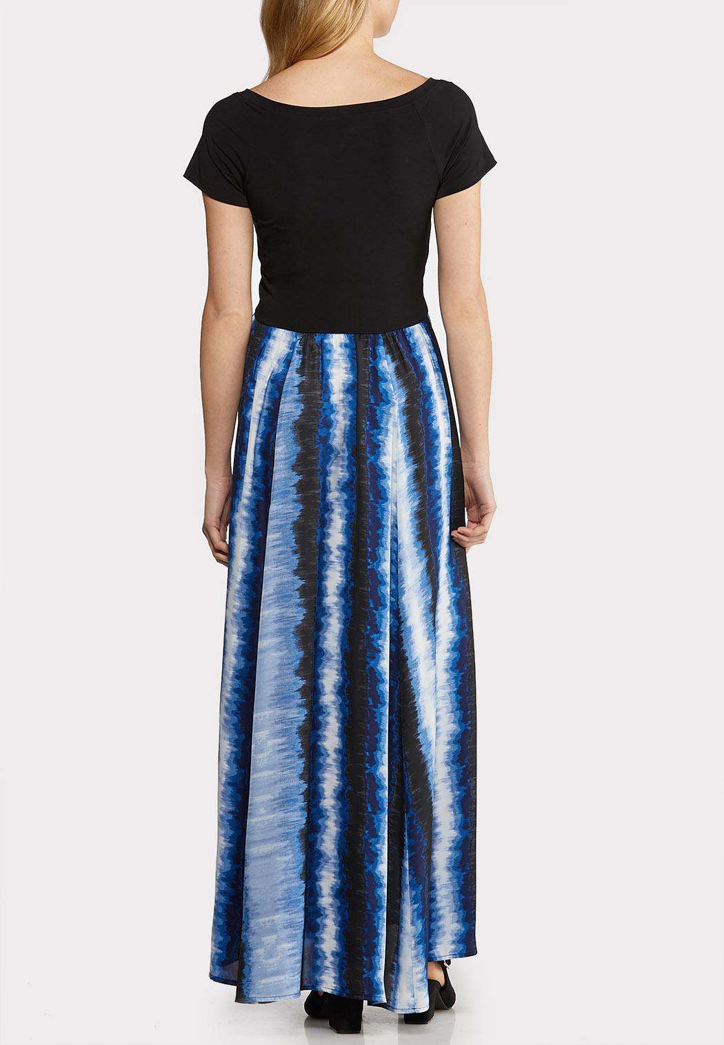 Plus Size Solid Tie Dye Maxi Dress (Item #44140792)