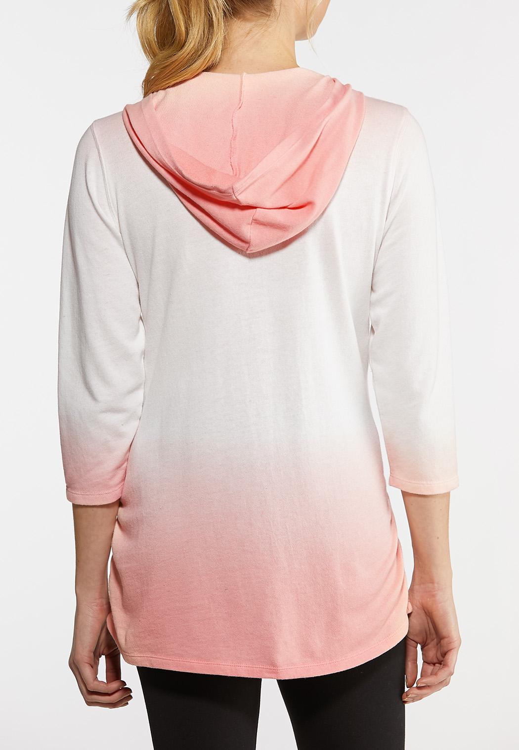 Plus Size Dip Dye Hoodie (Item #44140918)