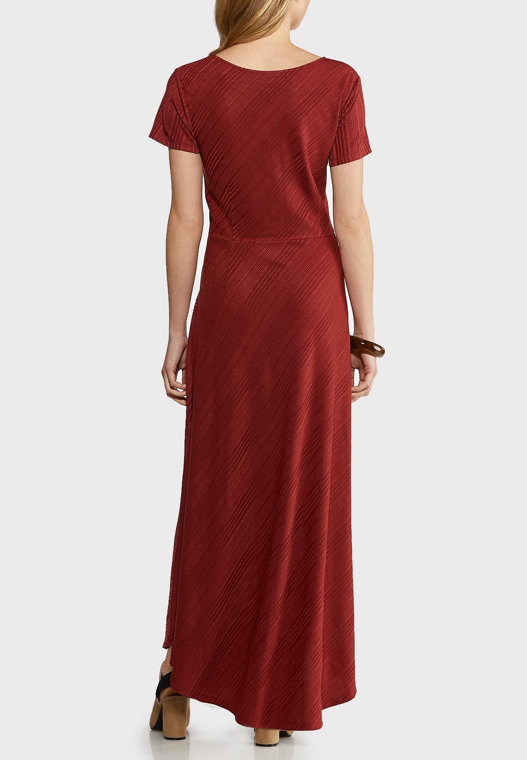 Plus Size Ribbed Maxi Dress (Item #44141187)