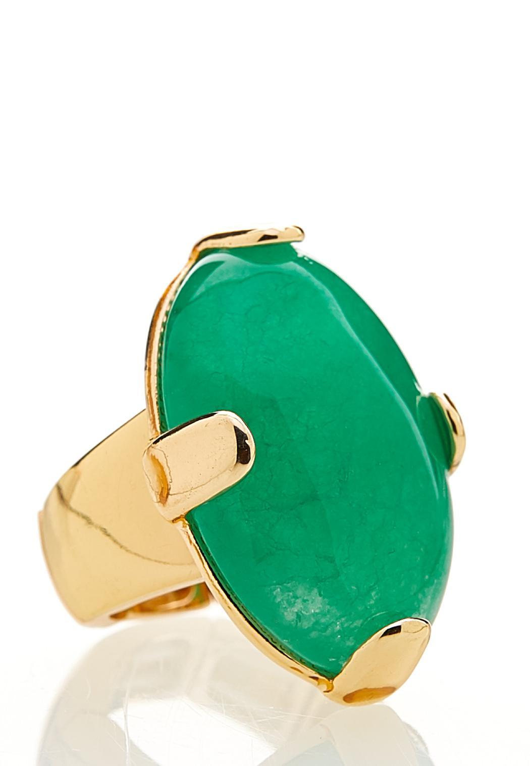 Oval Stone Stretch Ring (Item #44141934)