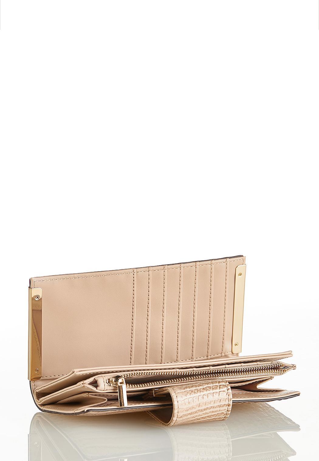 Metal Bar Croc Wallet (Item #44142242)