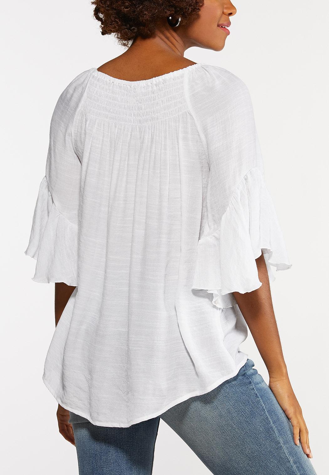 Plus Size Crepe Off The Shoulder Top (Item #44143663)