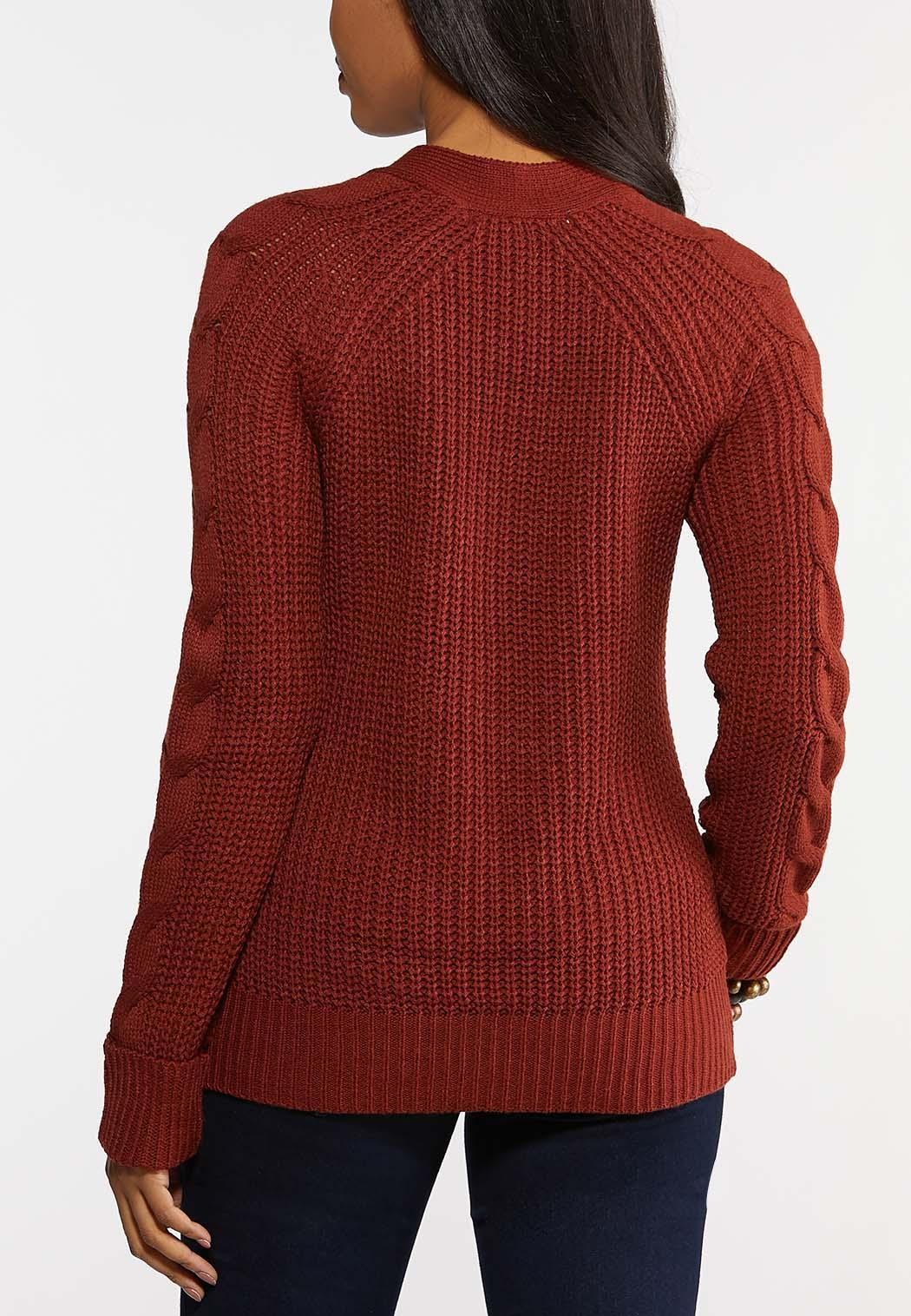 Brown Cable Knit Sweater (Item #44143982)