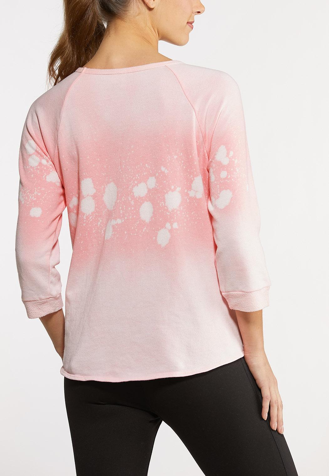Plus Size Pink Tie Dye Top (Item #44144597)