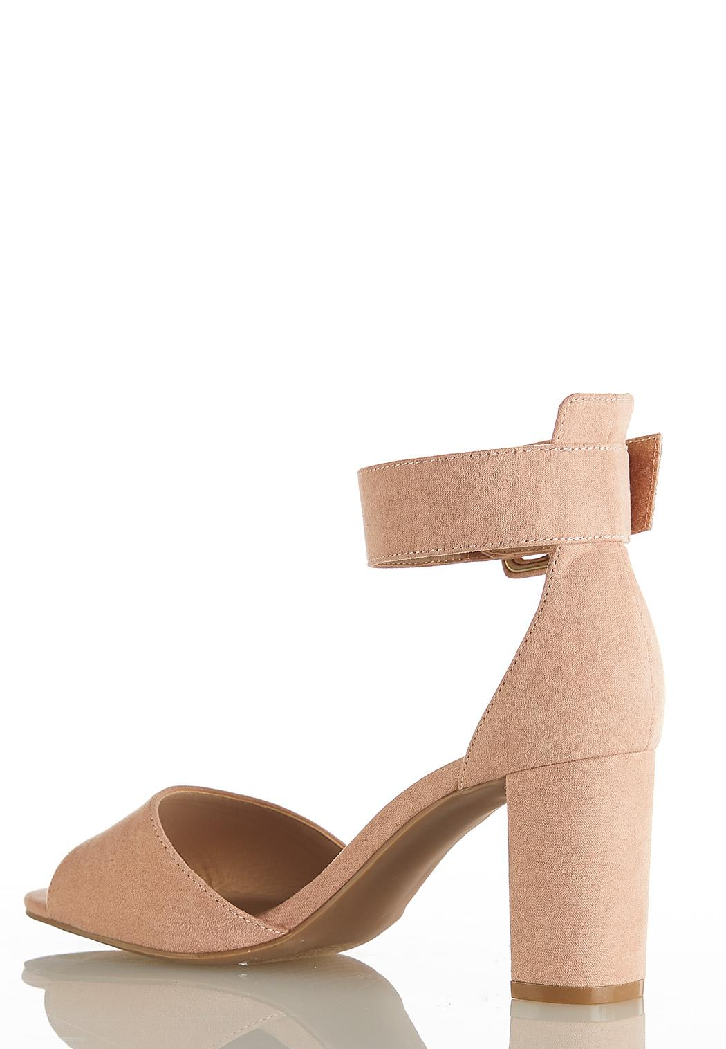 Wide Width Faux Suede Heeled Sandals (Item #44144698)