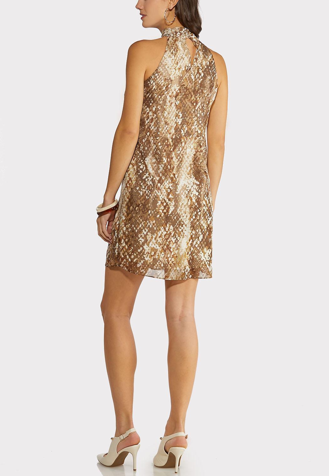 Plus Size Ruffled Animal Dress (Item #44145025)