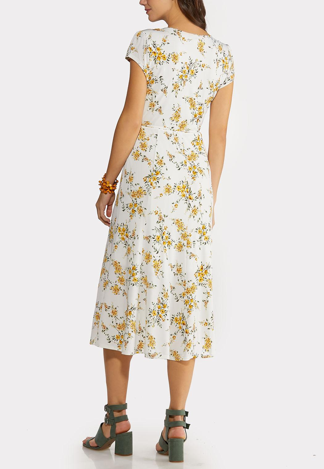 Golden Floral Midi Dress (Item #44145114)