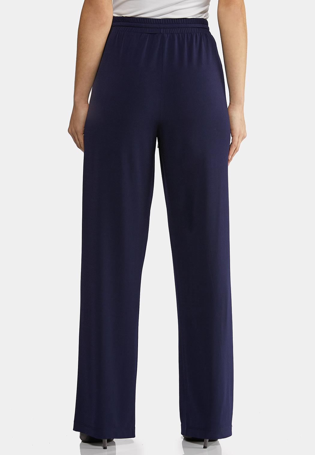 Solid Wide Leg Pants (Item #44145542)