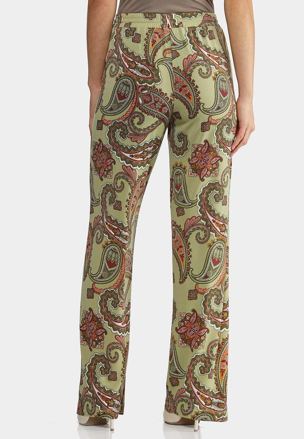 Paisley Tie Waist Pants (Item #44145747)
