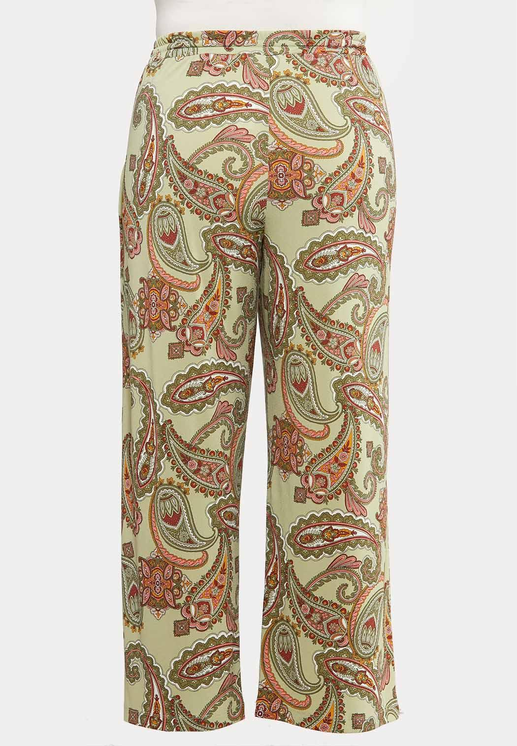 Plus Petite Paisley Tie Waist Pants (Item #44145840)