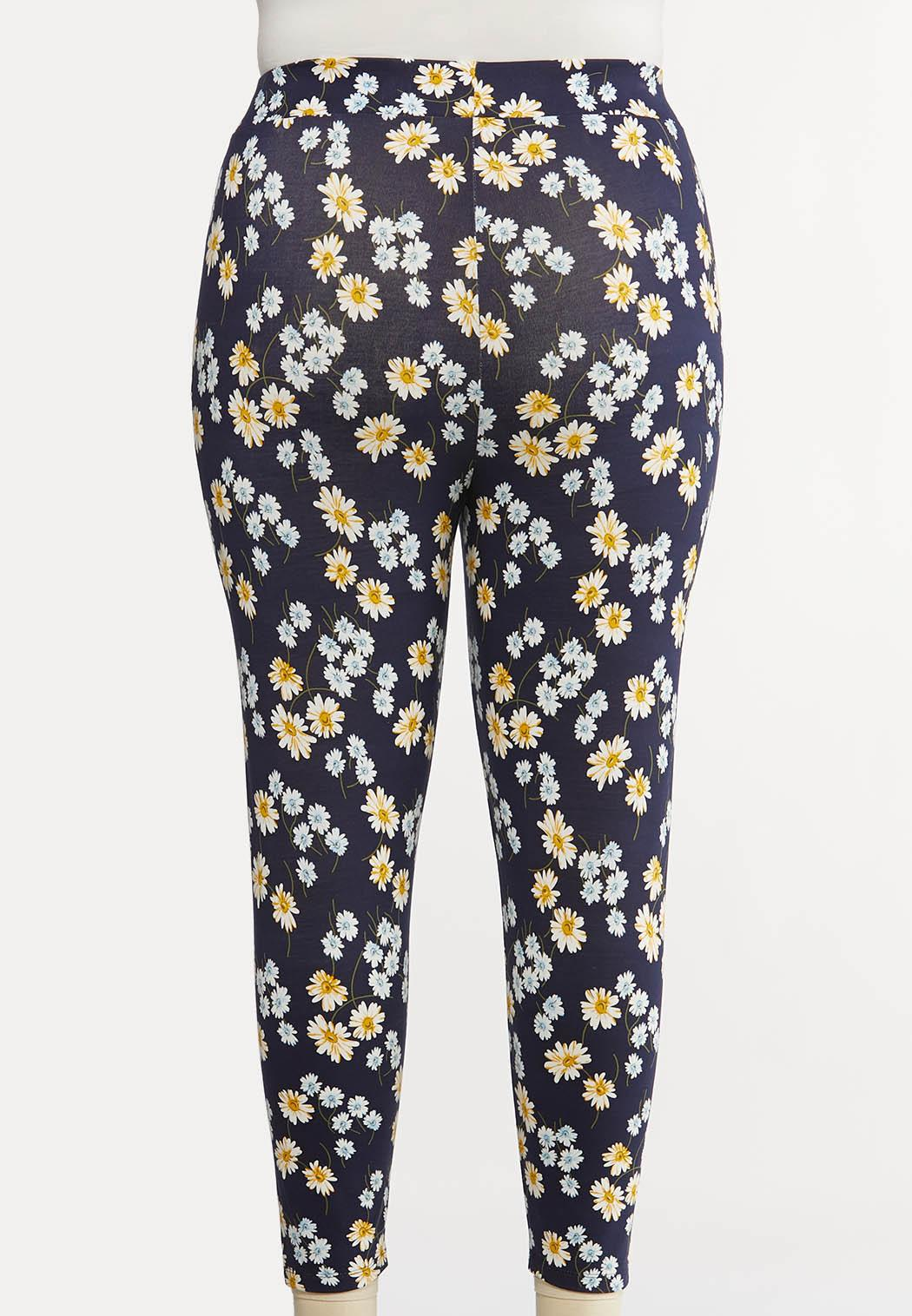 Plus Size Daisy Dream Cropped Leggings (Item #44146168)