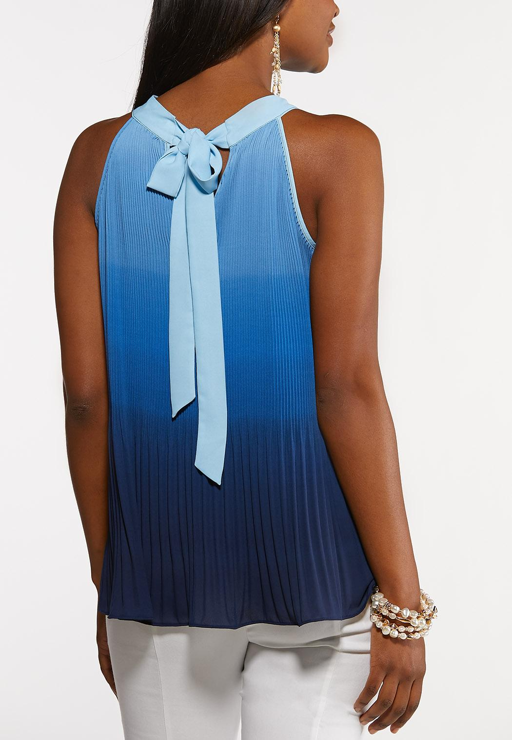 Ombre Pleated Tank (Item #44146274)