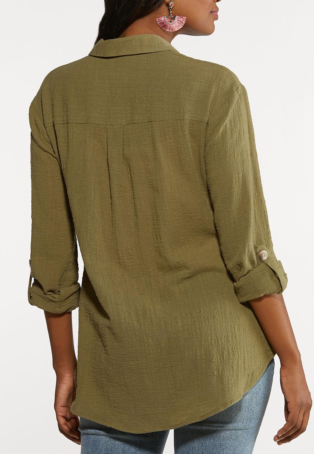Olive Popover Top (Item #44146812)