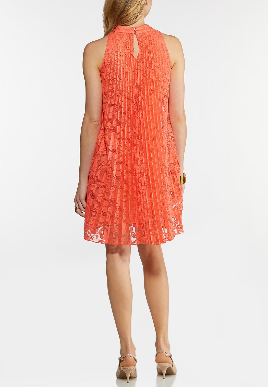 Pleated Lace Swing Dress (Item #44147321)